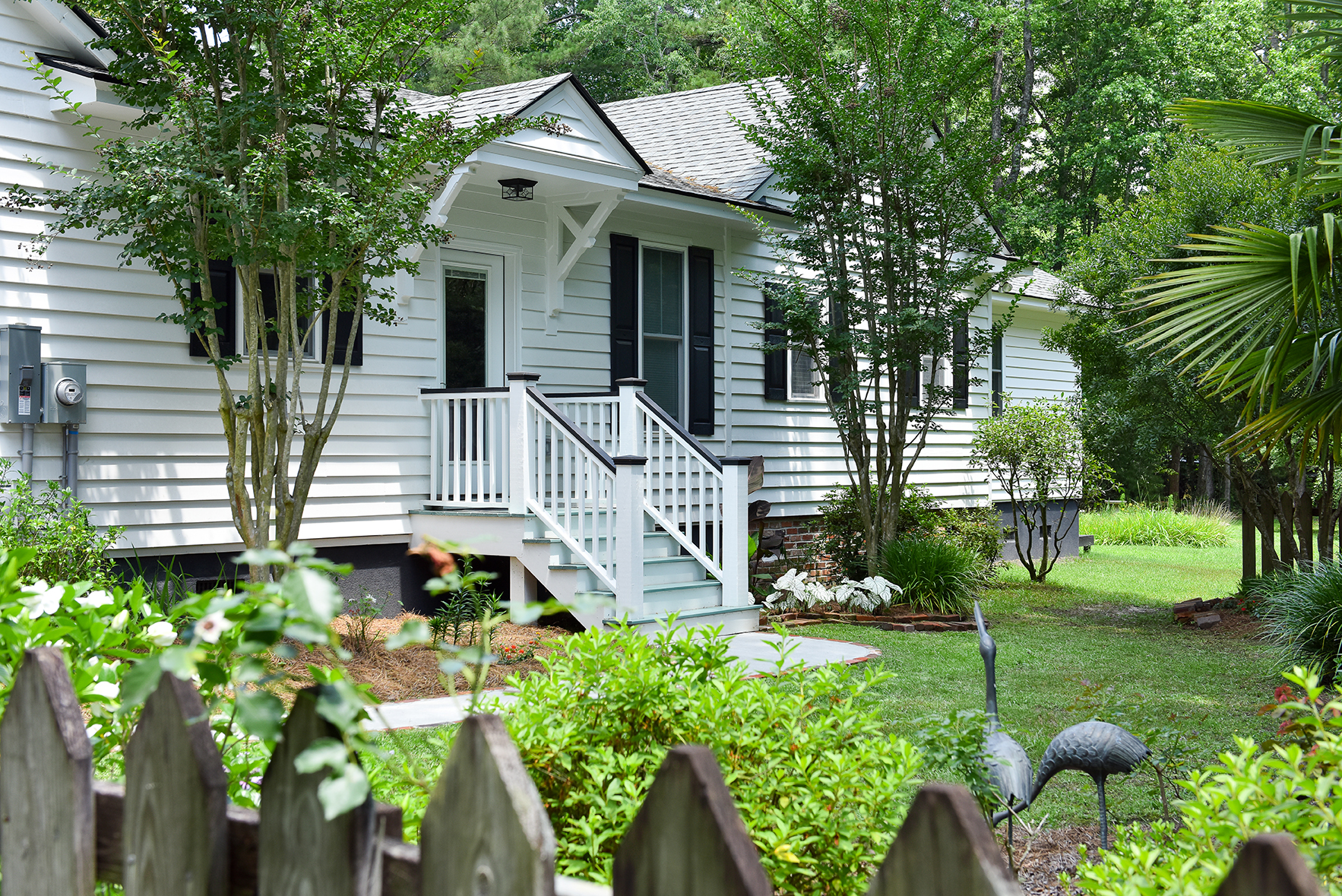 Exterior of renovated cottage in Summerville