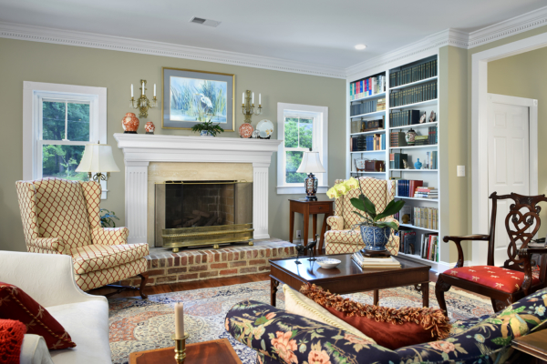 Renovated living room in Summerville, SC