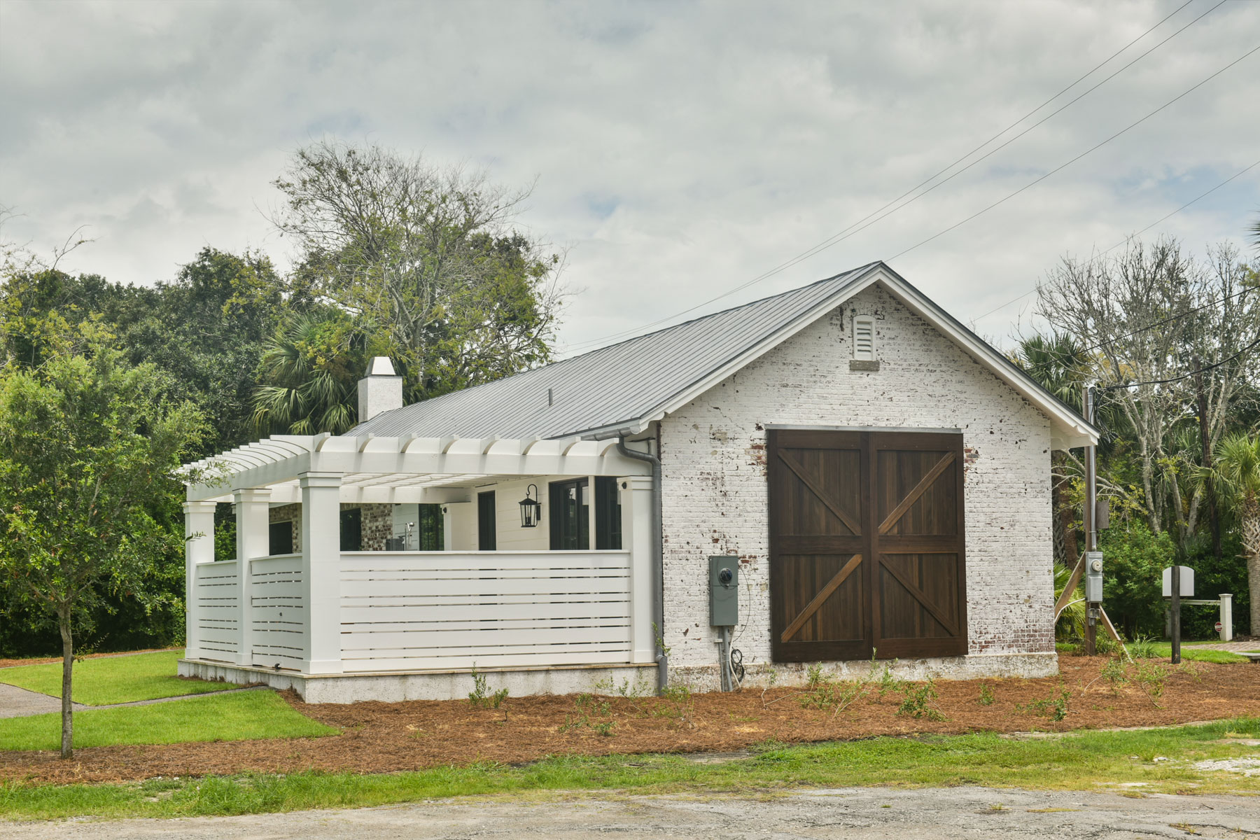 Side view of building where old garage door once was