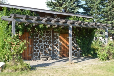 Cordwood shed at the Community Garden