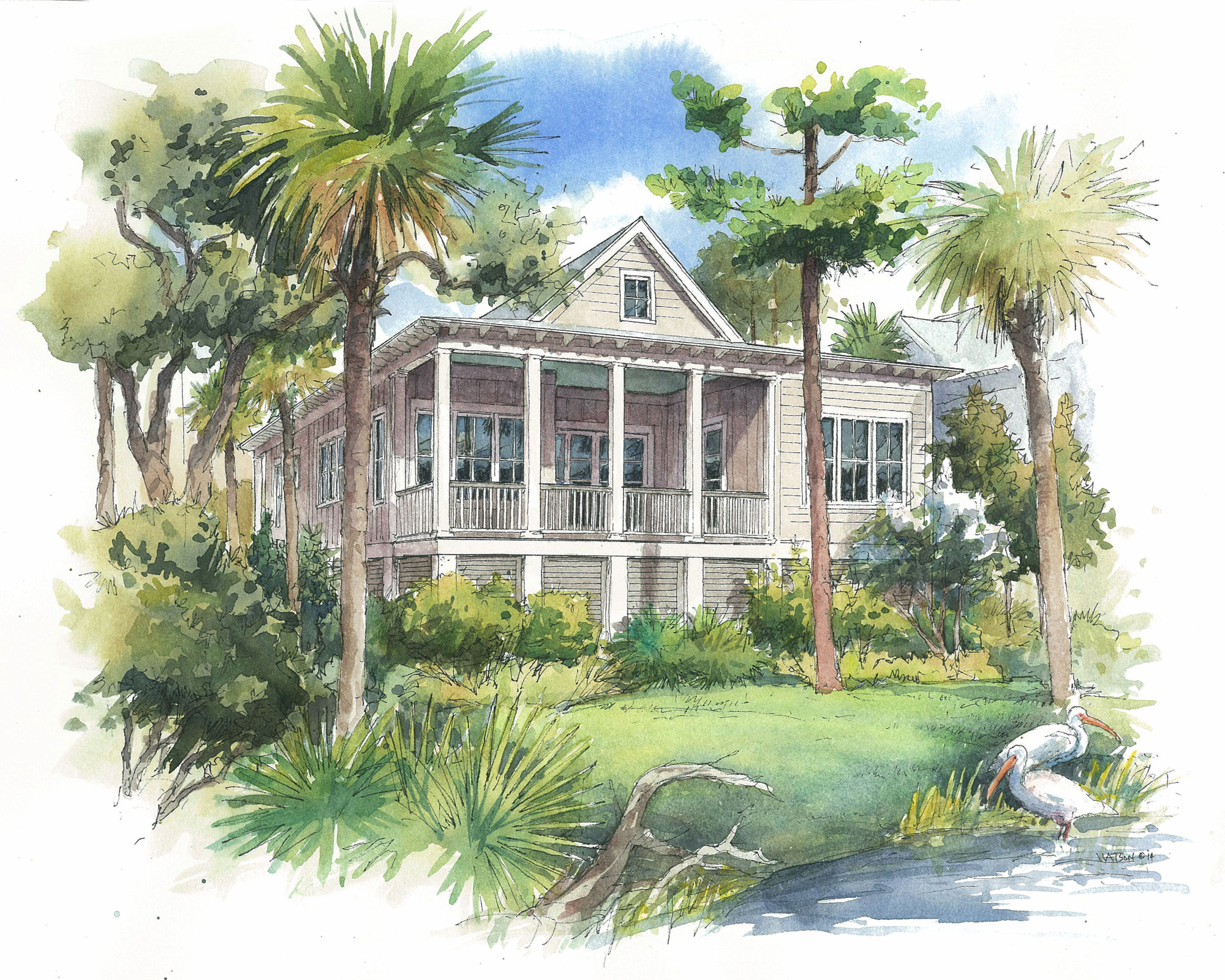 Loblolly Cottage on Kiawah Island, SC (rear view)