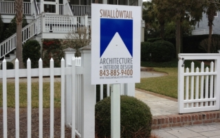 Swallowtail Architecture job sign now visible from the street