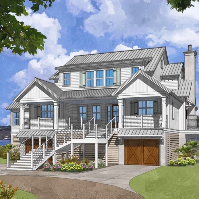 Custom architect designed home in Mount Pleasant, SC on the water