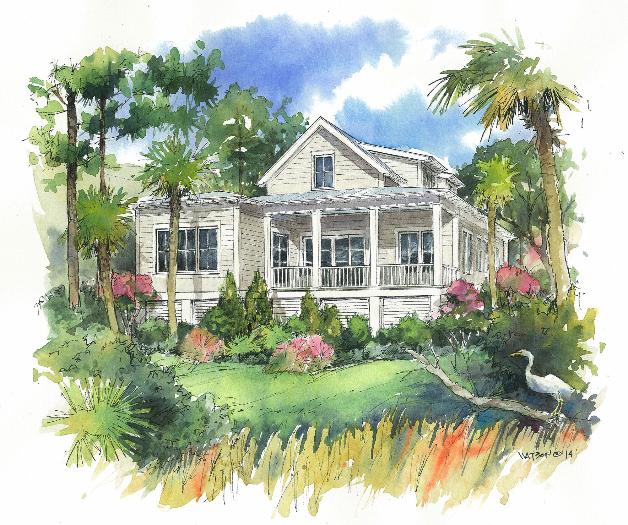 Virginia Cottage on Kiawah Island, SC (rear view)