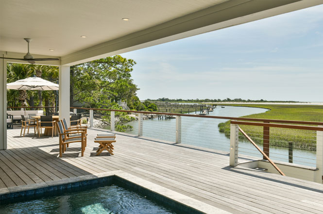 After photo of canal view from deck and covered porch