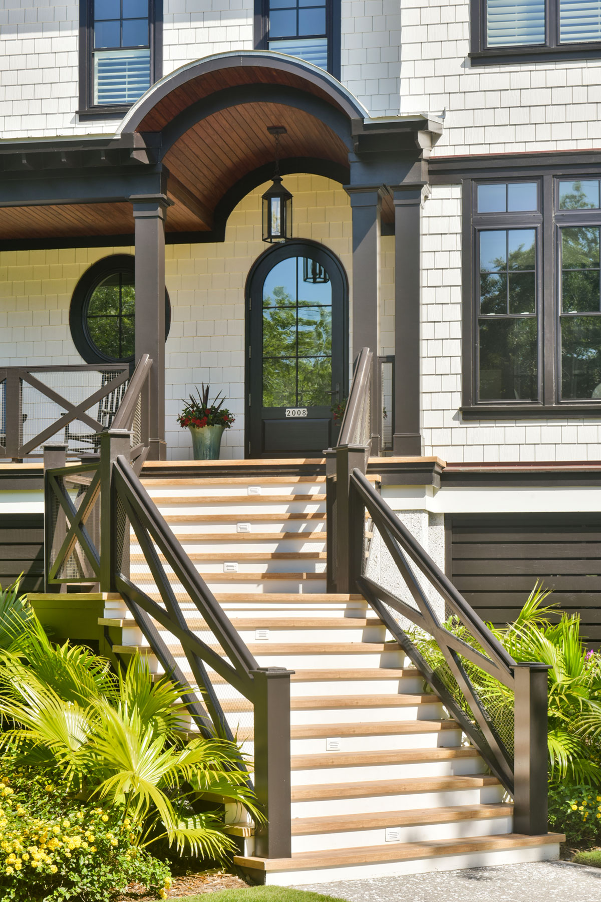 Front steps elevated home on Sullivan's Island